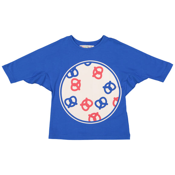 PRETZEL Girl's Web Sleeve Tshirt - Royal