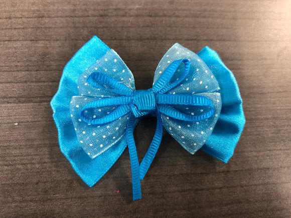 Girl- Ribbon Bow - Blue