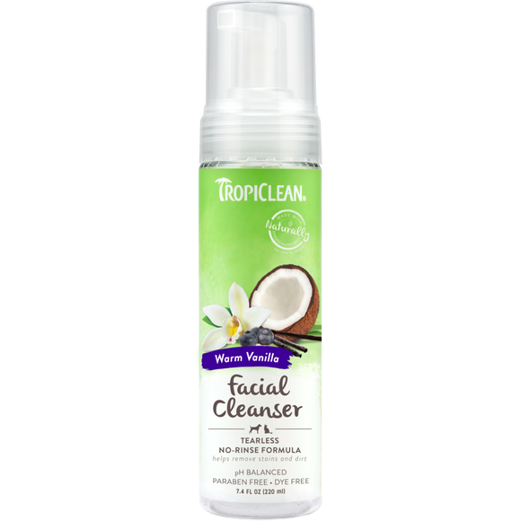 TropiClean Waterless Facial Cleanser