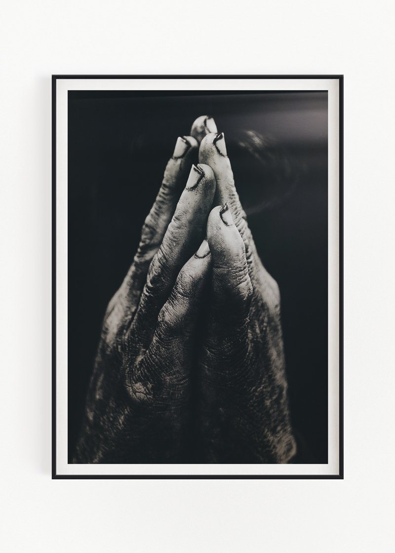 "Hands Praying Art Print Zofio 30x40cm (12x16"") No Frame"