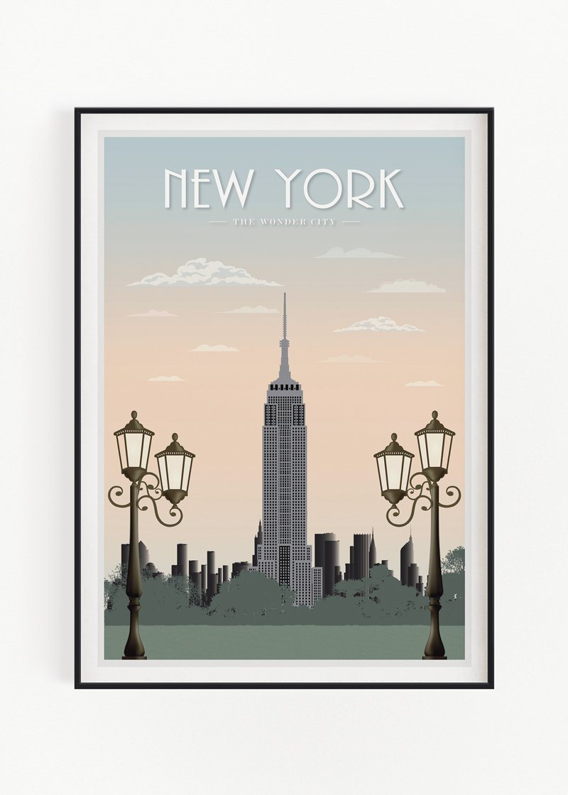 "New York Empire Art Print Zofio 30x40cm (12x16"") No Frame"