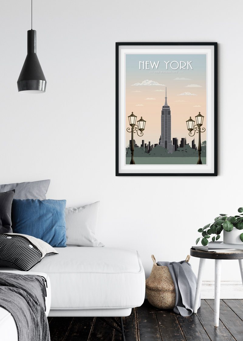 New York Empire Art Print Zofio