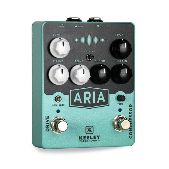 Keeley Aria Compressor/Overdrive Guitar Effect Pedal - Dynamic Pedals