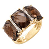 YELLOW GOLD SMOKEY TOPAZ RING