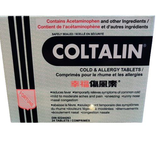 Coltalin® Cold and Allergy Tablets.