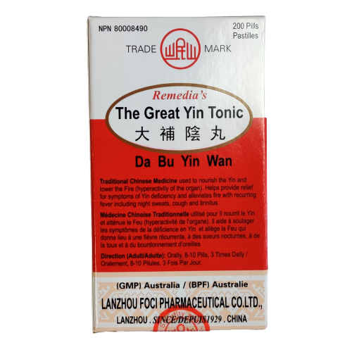 Remedia's The Great Yin Tonic (Da Bu Yin Wan)