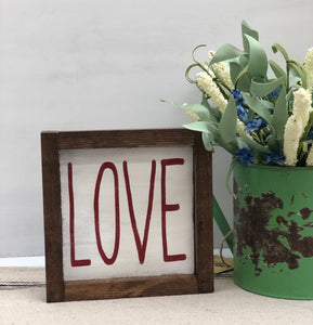 Rustic Valentine's Love Sign