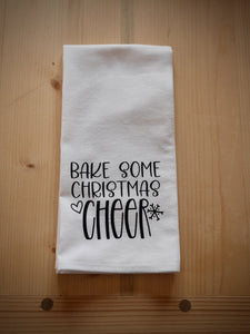 Bake some Christmas cheer flour sack towel
