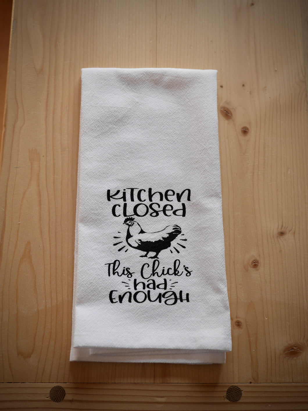 Kitchen closed flour sack towel