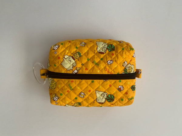 Box Pouch Zip Top Quilted