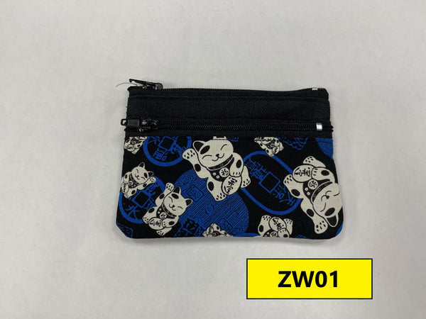 "4"" Zipper Wallet (asst prints)"
