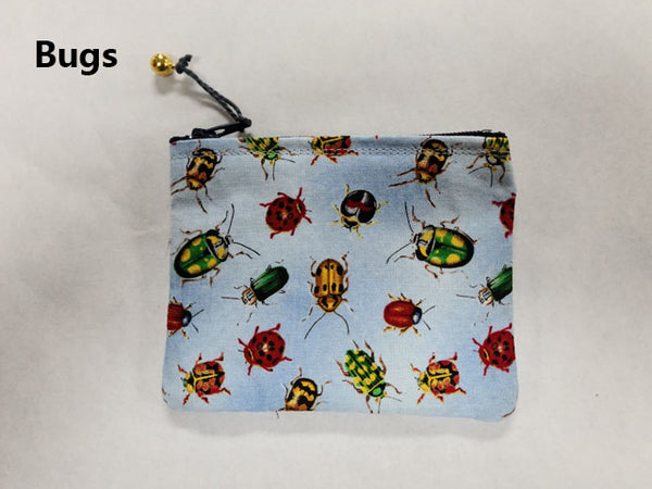 "4"" Zipper Coin Purse (asst prints)"