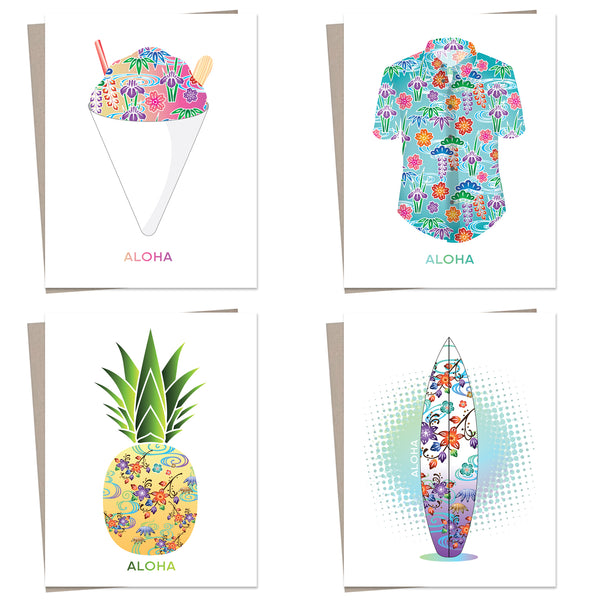 Greeting Cards Sansei Collection (assorted set of 4)
