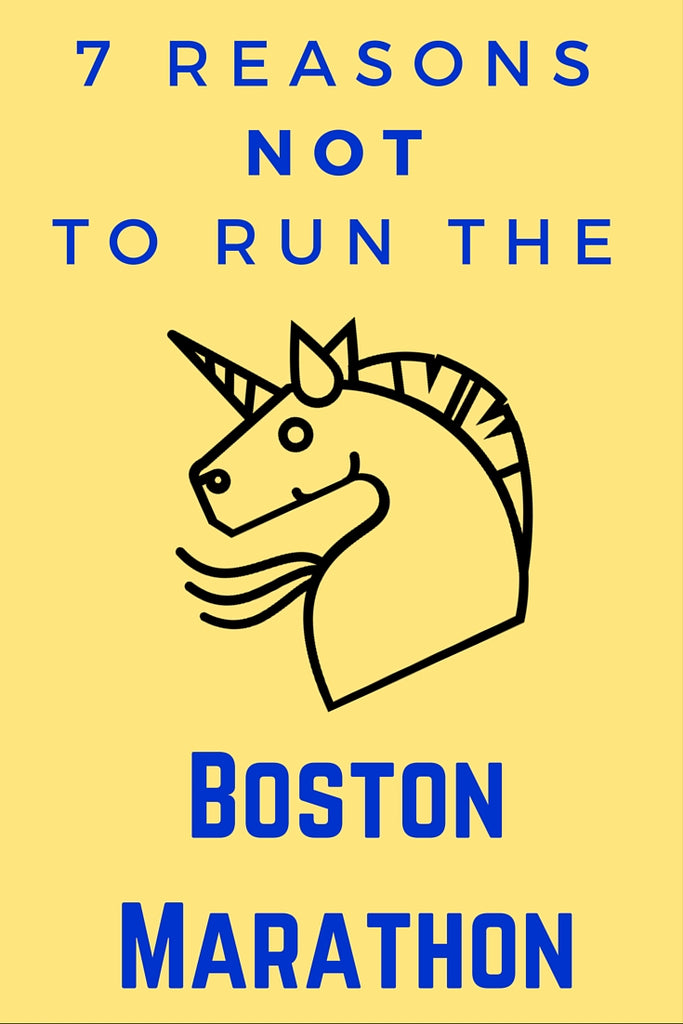 Why NOT to run Boston Marathon