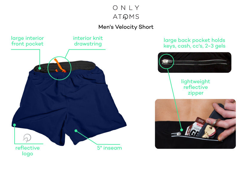 Mens Running Shorts with Pockets