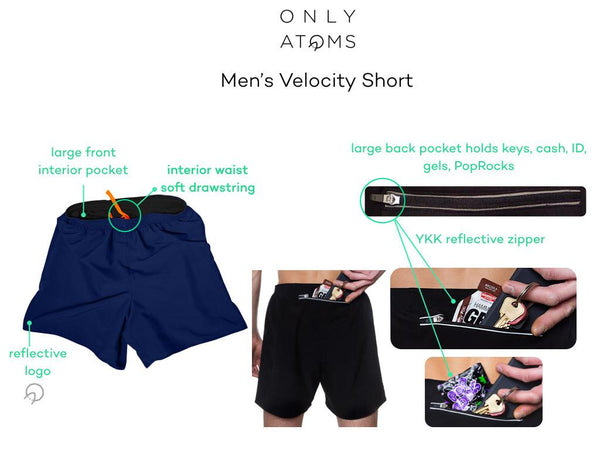 Mens running shorts with big pockets