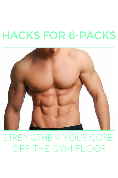 There are so many easy ways to squeeze core work into your daily routine! Here are our hacks for 6-pack abs