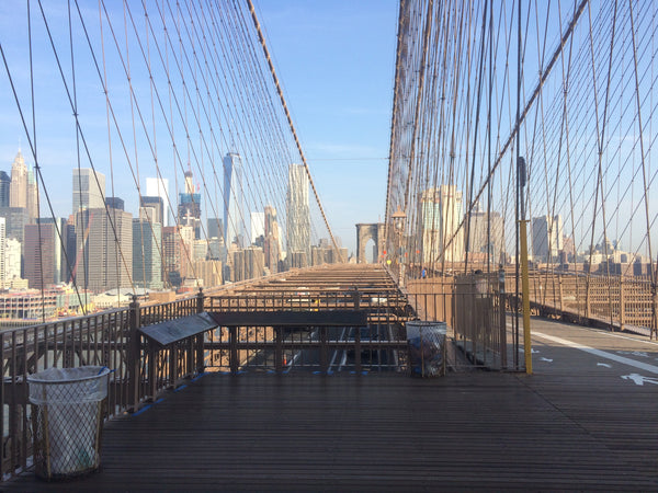 View from the top of the Brooklyn Bridge