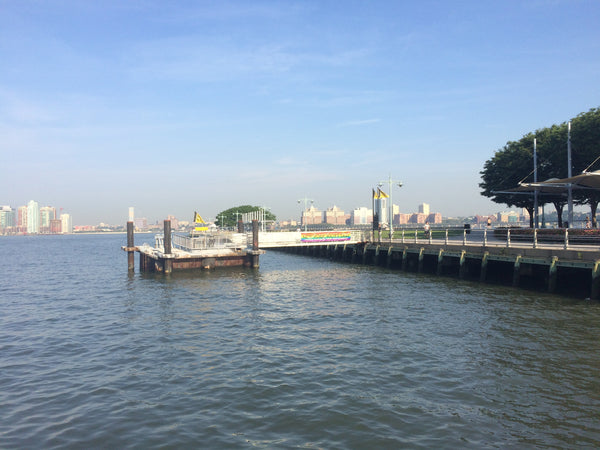 A dock in Hudson River Park