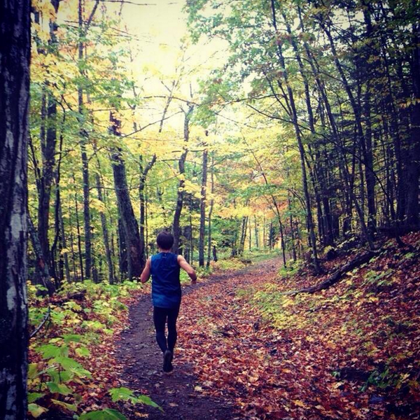 Fall trail running