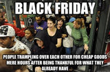 black friday stampede craziness