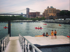 Come kayaking for free in Brooklyn Bridge Park every weekend this summer