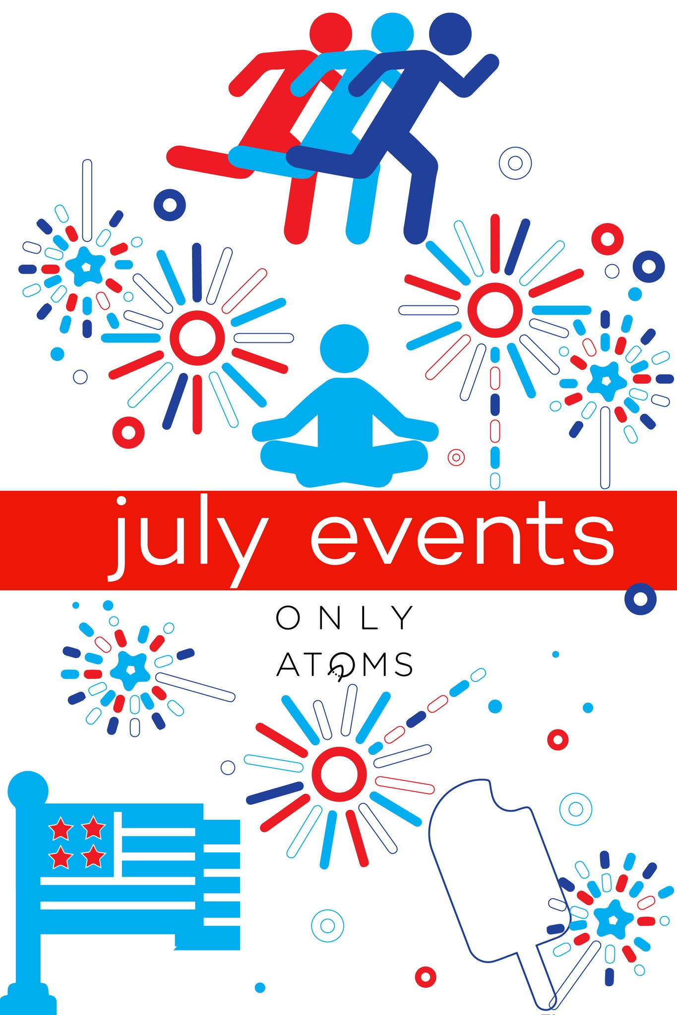 America's birthday seems to have inspired a wave of FREEdom everywhere this month! From FREE fitness and dance classes, to outdoor movies all over the city, this is summer at its peak.   link to June Events[many still happening]: https://onlyatoms.com/blogs/cool-running-blog-the-lab/118089221-fun-fitness-and-wellness-events-in-nyc-this-june  Underwear Run, Friday before NYC TRI  Coffee Run w/ Solfire  Kayaking in Brooklyn Bridge Park, Thursdays 5:30pm-6:45pm, Saturdays & Sundays 10:00am-3:00pm through September  FREE kayaking in Brooklyn Bridge Park's Pier 2. Sundays there is even kayak polo. Sign up for Sunday kayak polo here to ensure you get a spot.  Yoga Tuesdays, Tuesdays 7:30am-8:30am through July 19th  FREE yoga classes in Stuyvesant Square's North Lawn lalala  Meditation Thursdays, Thursdays 6:30pm-7:30pm through July 21st  FREE guided meditation class in Stuyvesant Square's North Lawn lalala   One Night Only Dance Party, June 30th 9:00pm-July 1st 1:00am  What better way to ring in July than dancing the night away at a FREE dance party at McCarren Park Hotel and Pool!    Learn to Tango Nights, Sundays 6:00pm-9:00pm through July 31st  FREE tango lessons with a live DJ?! Yes. Class is led by certified dance instructor Esmeralda from 6:00-6:45pm and the dancing and music continues until 9:00pm. Also in Stuyvesant Square  Summer on the Hudson: Everybody Tango!, Thursdays 6:30pm-9:30pm through August  More FREE tango lessons, brought to you by Strictly Tango NYC.   With all these fun running, yoga, dancing, and film events, July is going to be an awesome month! Come have fun in the sun with us at all these great summer activities.