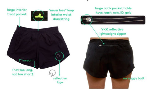 Mens Running Shorts with Large Zipper Pocket