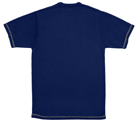 Men's Cool Running Tee Shirt Navy Blue
