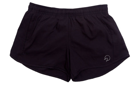 Women's Running Shorts with Pockets - Black