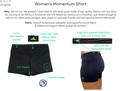 Women's Running Shorts with Zip Pockets