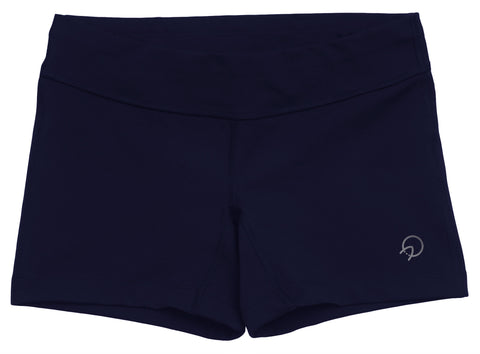 Women's Compression Running Shorts with Zip Pocket