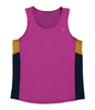 Hipster Men's Running Singlet - Pink Black Gold