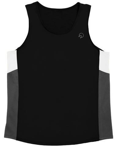 Cool Men's Running Singlet - Pink Black Gold