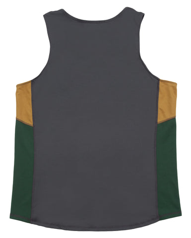 Weird Men's Running Singlet - Pink Black Gold