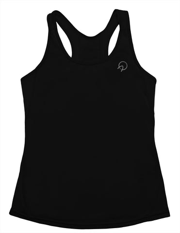 Women's Cute Workout Tank Top - Black