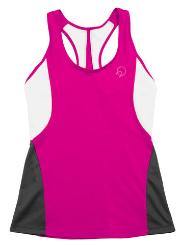 Cute Women's Running Tank Top - Pink Grey