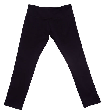 cool womens running capri black with zip pocket