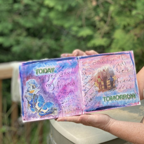 art journal collaboration page