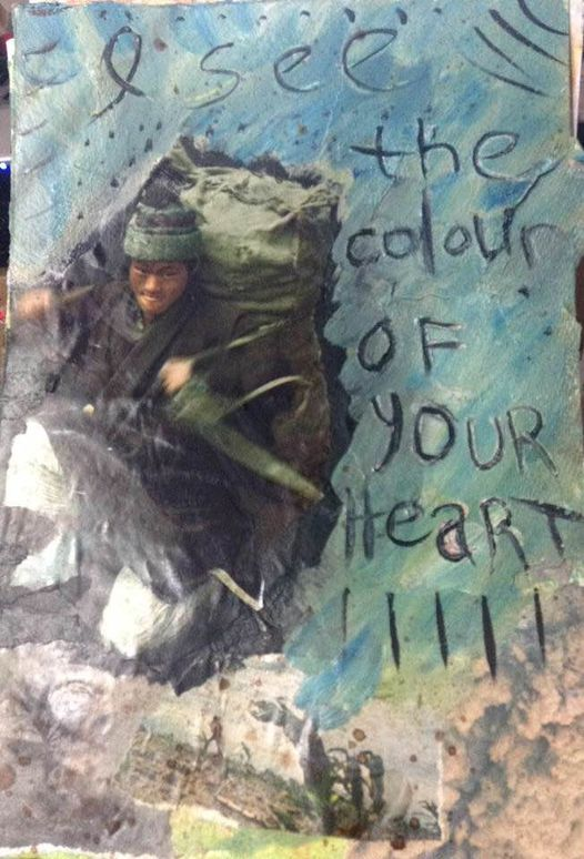 the colour of your heart journal page