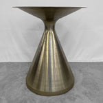 High-End Sculptural Metal Dining Table Pedestal Base