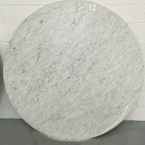 "60"" round honed marble table top with bullnose edge from high end retailer"