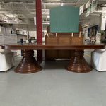 Exceptional Find: Cherry Double Pedestal Dining Table