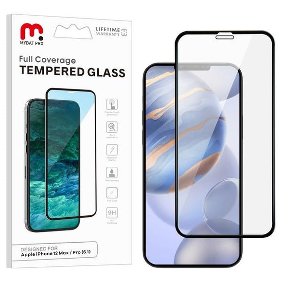 Clear full coverage tempered glass for the Apple iPhone 12 and  iPhone 12 Pro
