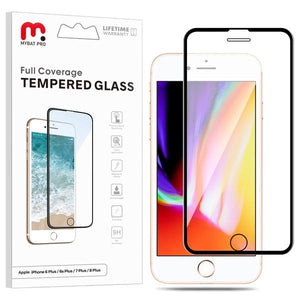 Full Coverage Tempered Glass for Apple iPhone 8 Plus / 7 Plus / 6S Plus / 6 Plus