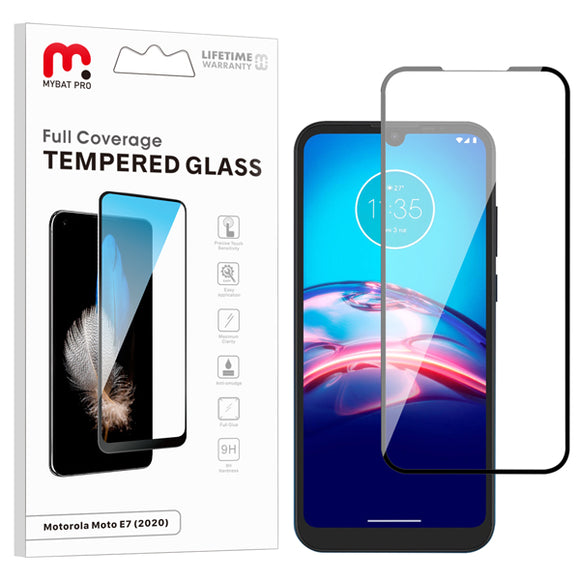 Full Coverage Tempered Glass for Motorola Moto E (2020)