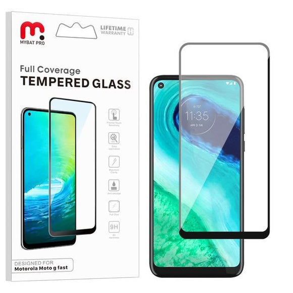 Full Coverage Tempered Glass for Motorola Moto G Fast