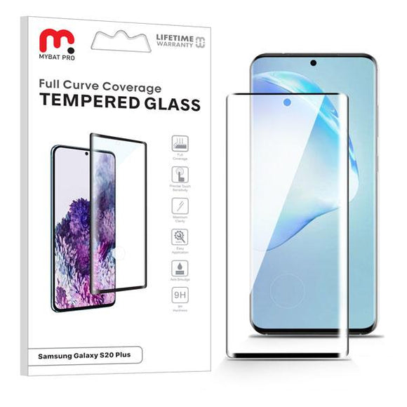 Clear full coverage anti smudge tempered glass screen protector for the Samsung Galaxy S20 Plus / Galaxy S20 Plus 5G
