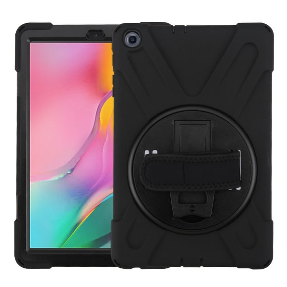 Rotatable Kickstand Tablet Case with Wristband for Samsung Galaxy Tab A 10.1 (2019)