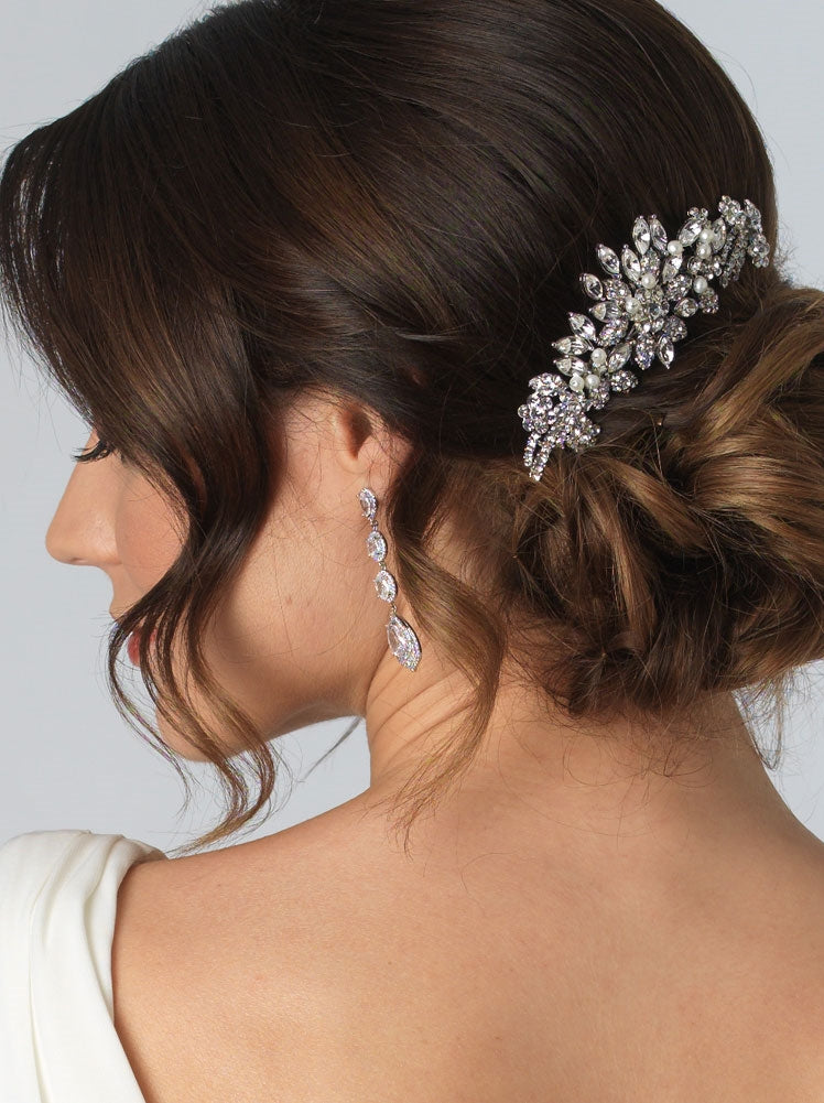 Alexa Pearl and Rhinestone Bridal Comb